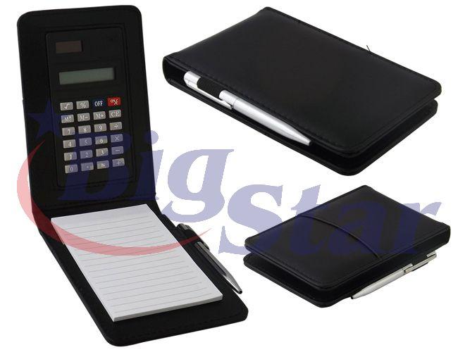 Bloco com caneta e calculadora BIG 1685 B