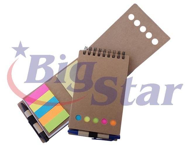 Bloco de anotações com kit post it BIG 1713