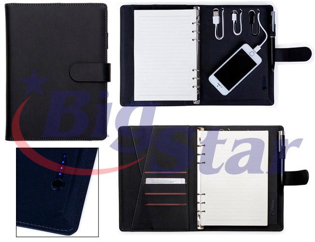 Bloco de anotações com powerbank BIG 2399