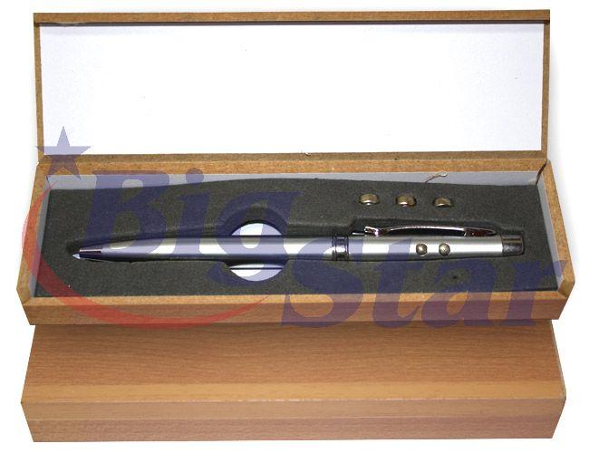 Caneta laser com estojo de madeira BIG 126