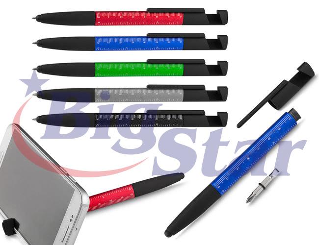 Caneta de metal touch com régua, ferramentas e limpador de tela BIG 2065 C