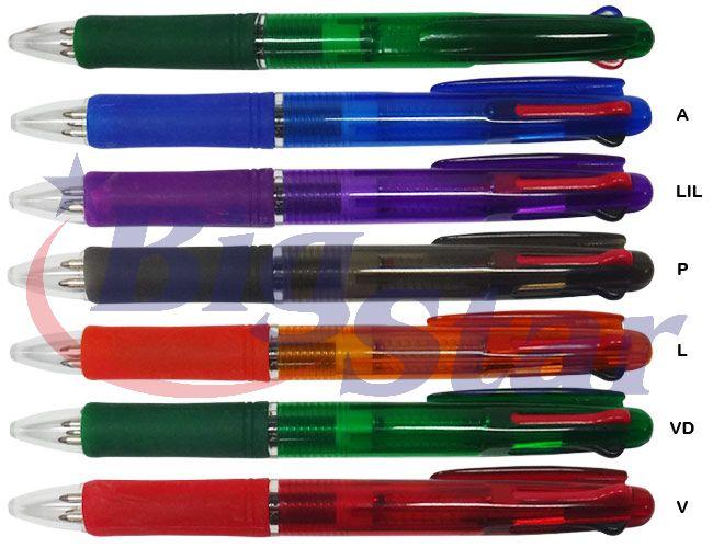 Caneta plástica 3 cargas BIG 1501