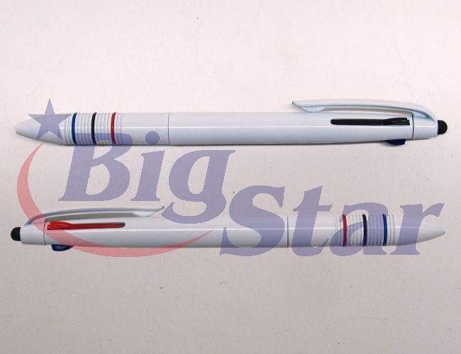 Caneta plástica 3 cargas com ponta touch BIG 2278