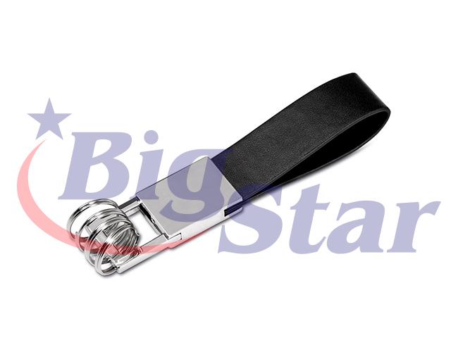 Chaveiro de metal e couro BIG 2210