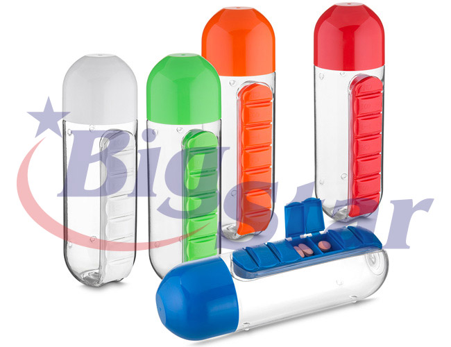 Garrafa / Squeeze com porta comprimidos BIG 2553