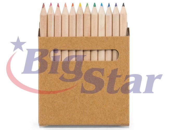 Kit com 12 mini lápis de cor BIG 2650 B