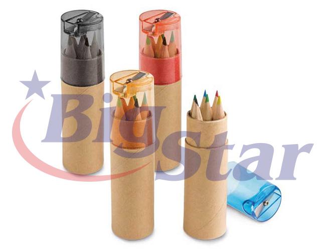 Kit com 6 mini lápis e apontador BIG 2649
