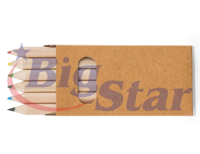 Kit com 6 mini lápis de cor BIG 2650 C