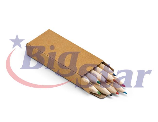 Kit com 10 mini lápis de cor BIG 2646
