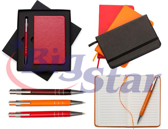 Kit escritório com caneta e  moleskine BIG 2359