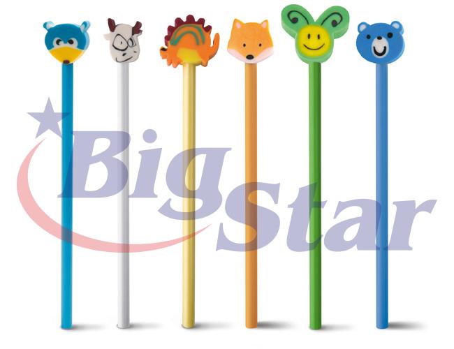 Lápis com bonecos de borracha BIG 2640