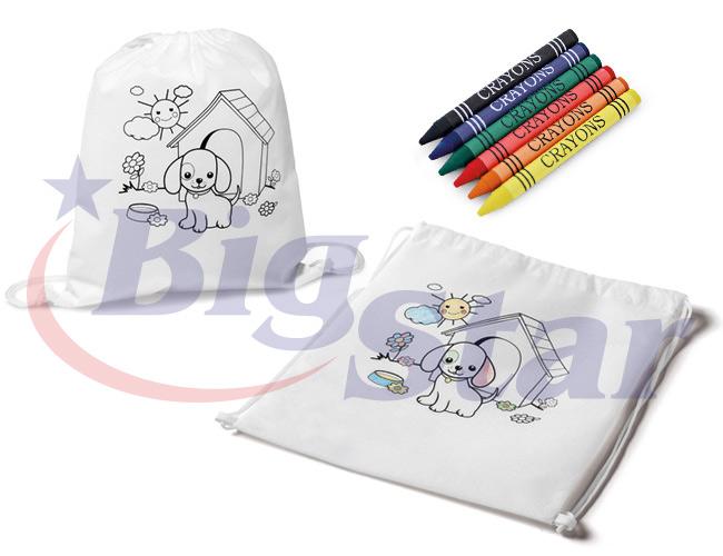 Mochila saco para colorir BIG 2678