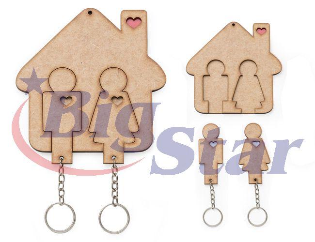 Porta chaves com chaveiro em MDF BIG 2325