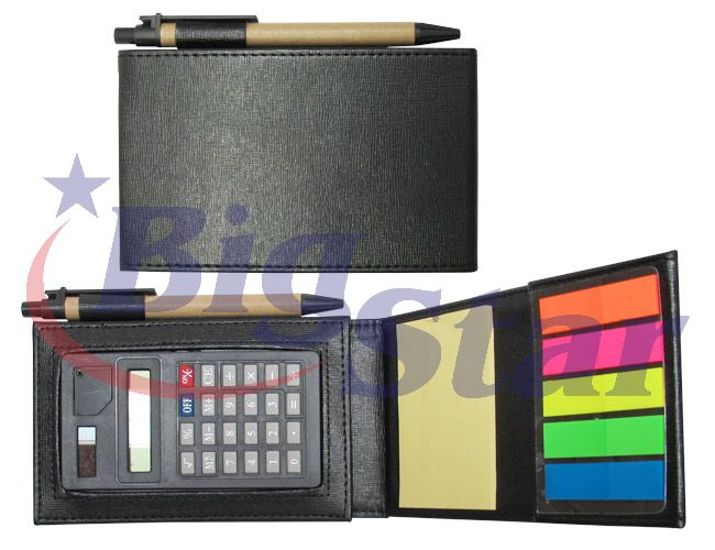 Kit com caneta, post-it e calculadora BIG 2082