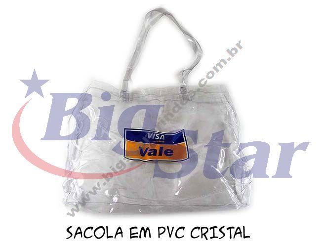 Sacola em PVC cristal BIG 883